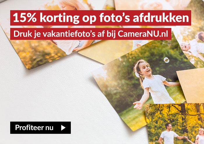 15% korting op fotoprint