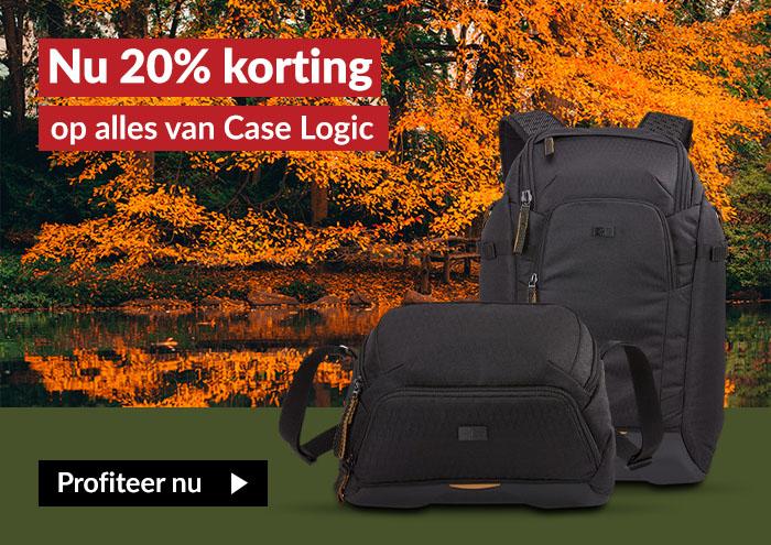 20% korting op Case Logic