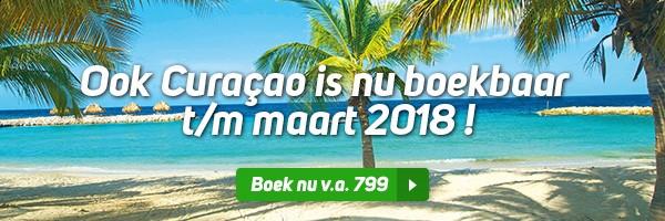 Curacao is voor winter boekbaar