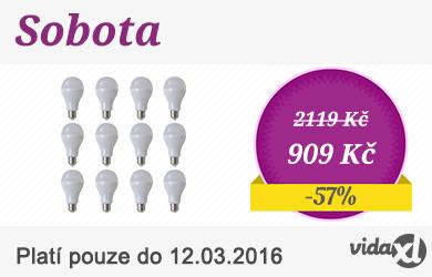 LED žárovky 12 ks - 7 W / E27 - teplá bílá