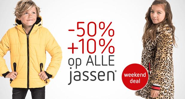 Weekenddeal: ALLE jassen -50% +10% EXTRA!*