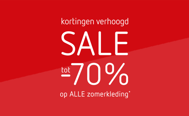Sale! Alle zomerkleding tot -60% + 10% EXTRA
