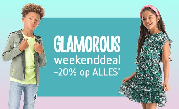 Glamorous weekenddeal! -20% op ALLES!*