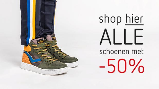 Shop hier alle schoenen met 50% korting!