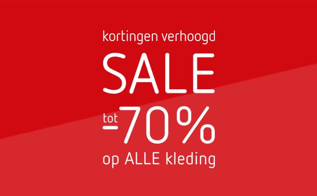 SALE: tot -70% op ALLE kleding!