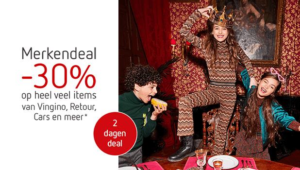 -30% op heel veel items van Vingino, Cars, Retour & meer