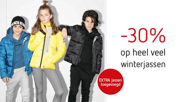 -30% op heel veel winterjassen