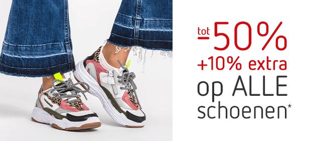 SALE! Tot -50% + 10% EXTRA* op ALLE schoenen!