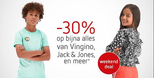 Weekenddeal: -30% op bijna alles van Vingino, Jack & Jones en meer!*