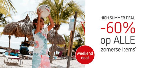 high summer deal: -60% op alle zomerse items*