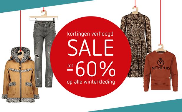 Kortingen verhoogd: tot -60% op ALLE winterkleding!