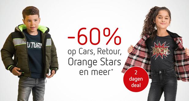 2 dagen deal: -60% op Cars, Retour en Orange Stars!