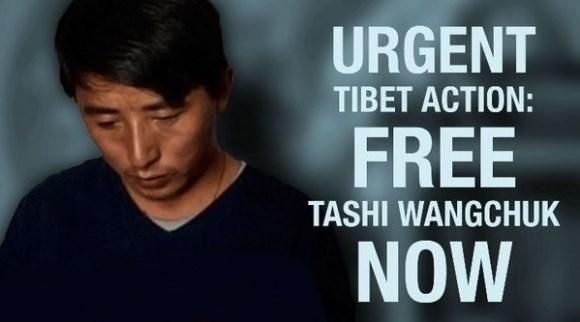 Teken voor de vrijheid van Tashi Wangcuk