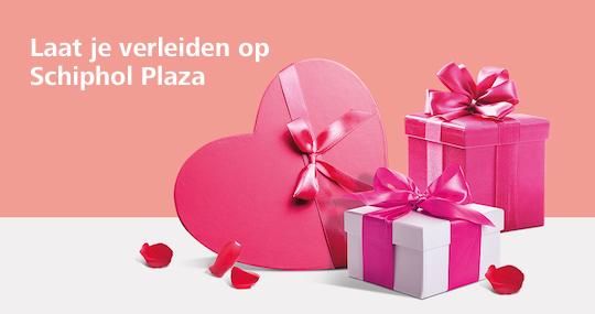 Valentijn aanbiedingen op Schiphol Plaza