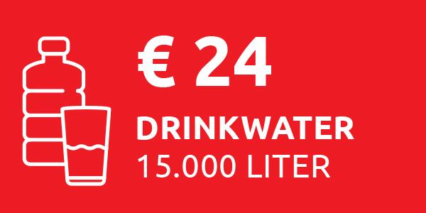 15.000 liter drinkwater
