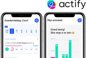 Actify beginscherm en activiteit